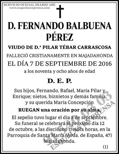 Fernando Balbuena Pérez